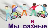 Неделя инклюзивного образования «Разные возможности - равные права»